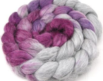 Spinning Fiber - Alpaca / Silk Rowing czesane Top - Srebrny kielich