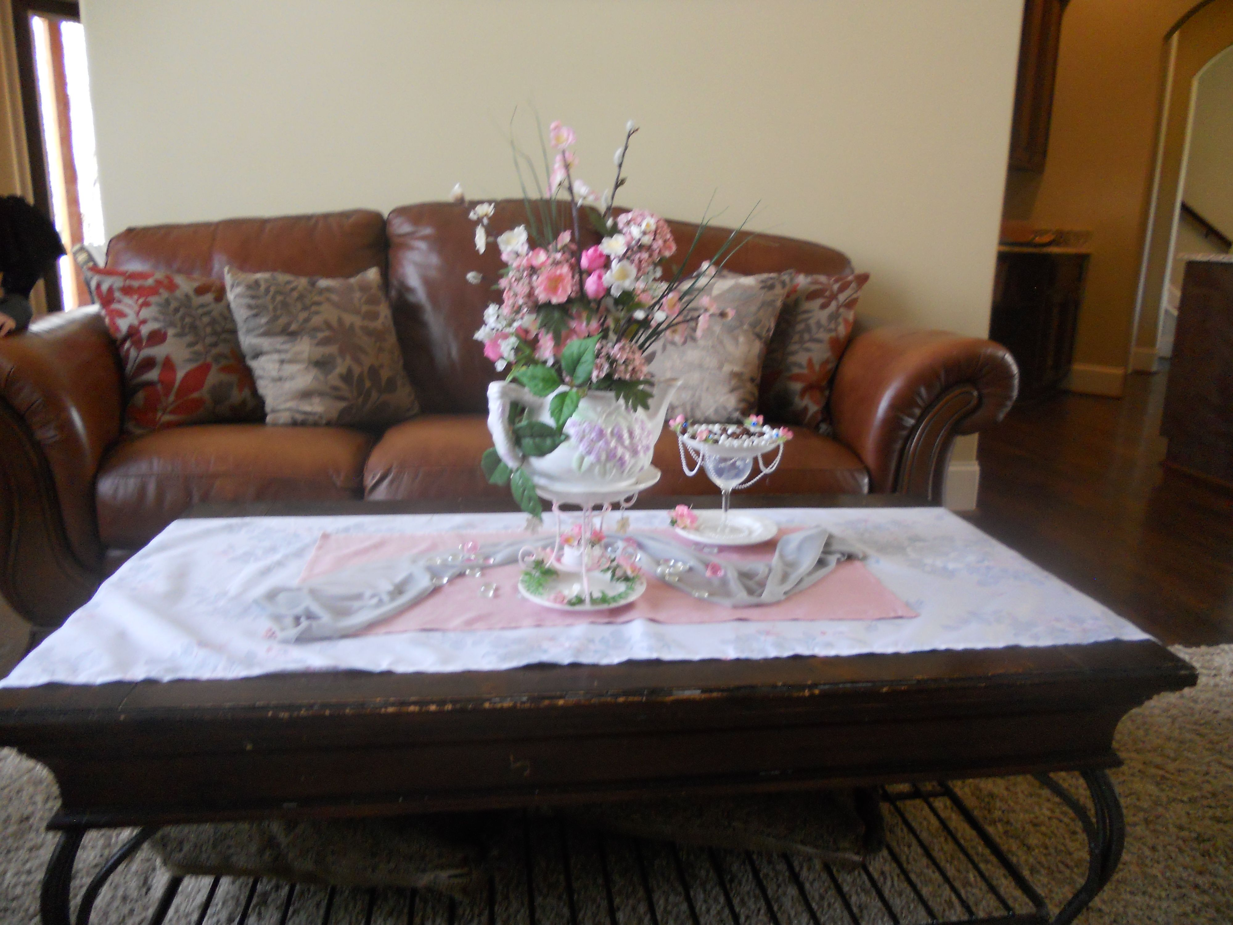 Coffee Table in the living room just a couch to pull it all to gether......