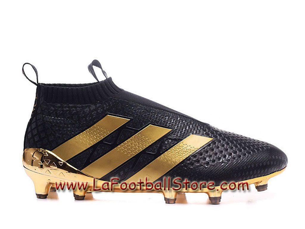 500606f2940bd Adidas Enfant Femme Football Chaussures ACE 16+ Purecontrol Paris Pack  terrain souple Noir Or