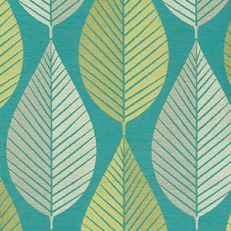 upholstery fabric sage turquoise leaf
