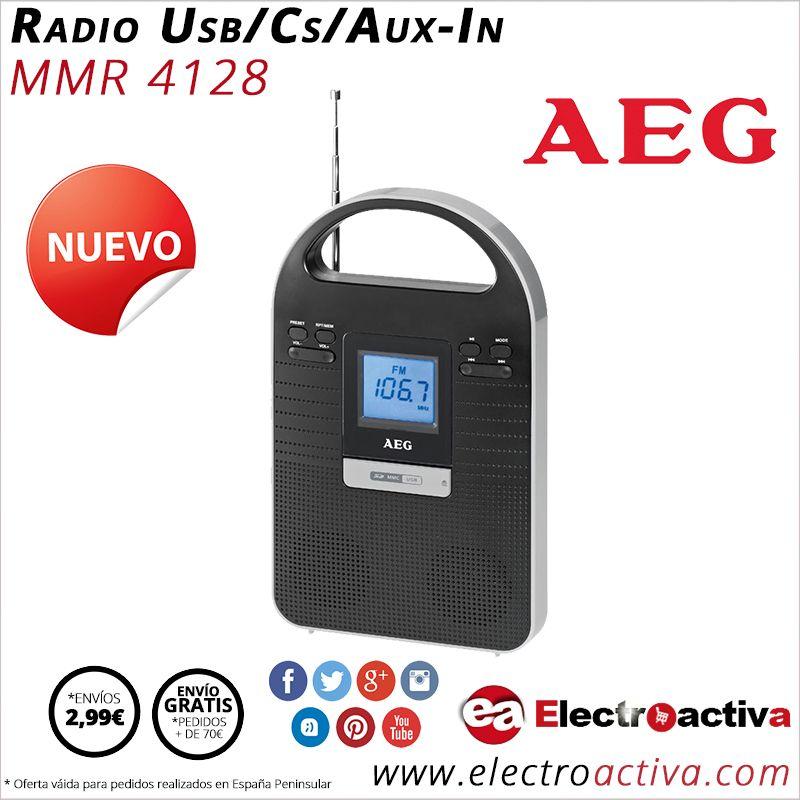 ¡Radio USB compacta y de diseño! Radio USB AEG MMR 4128 http://www.electroactiva.com/aeg-radio-usb-cs-aux-in-mmr4128-plata.html #Elmejorprecio #Radio #USB #Electronica #PymesUnidas