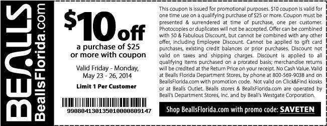 Check out offers from Bealls using GeoQpons app on your