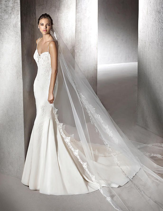 Zabel, mermaid wedding dress, sweetheart neckline #rosaygris | St ...