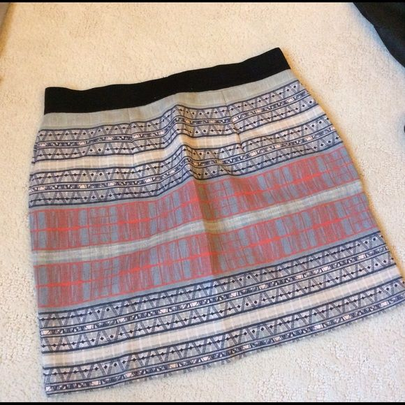 Pattern Print Elastic Band Skirt Brand-new never worn with an elastic band-- can fit up to a size medium. Skirts Pencil