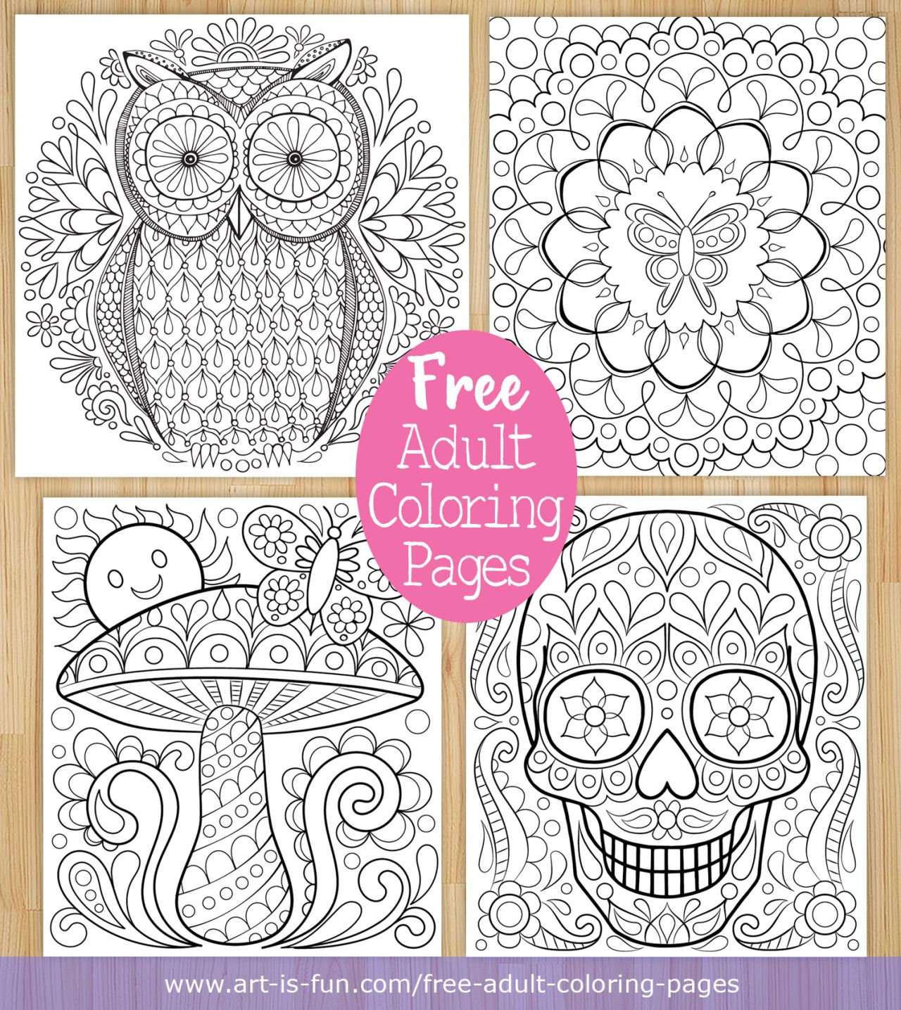 Free Printable Adult Coloring Pages By Thaneeya McArdle Art