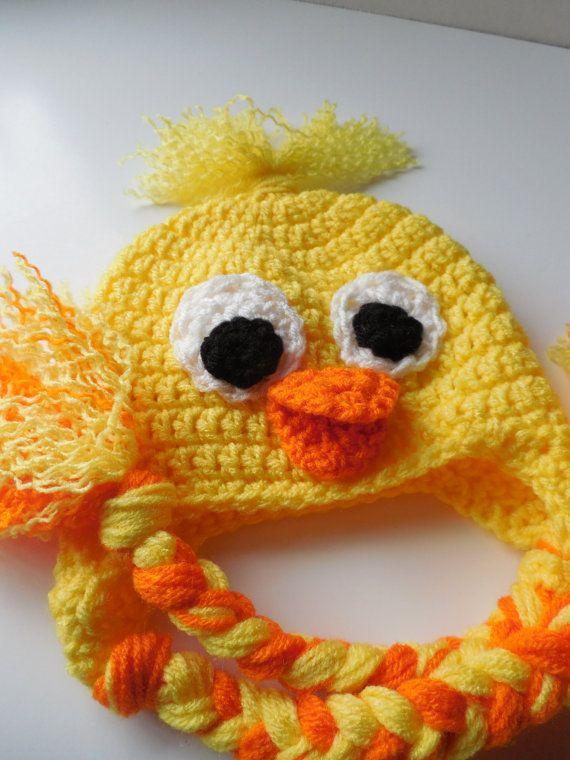 Duck Adult Hat - Crochet Duck Hat - Duck Animal Hat - Handmade ...