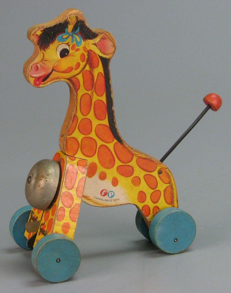 111 3831 Fisher Price Jingle Giraffe No 472 Pull Toy