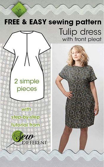 TULIP DRESS - Free sewing pattern | Sewing | Pinterest | Sewing ...