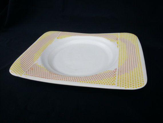 Polka Dot patterned Platter by KollinBaker on Etsy, $22.00