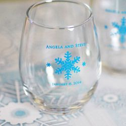 personalized wine glasses 2.75, wedding favors, cake toppers etc.