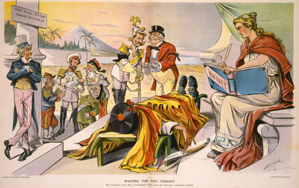 Cartoon From Puck What Killed Spain Spanish