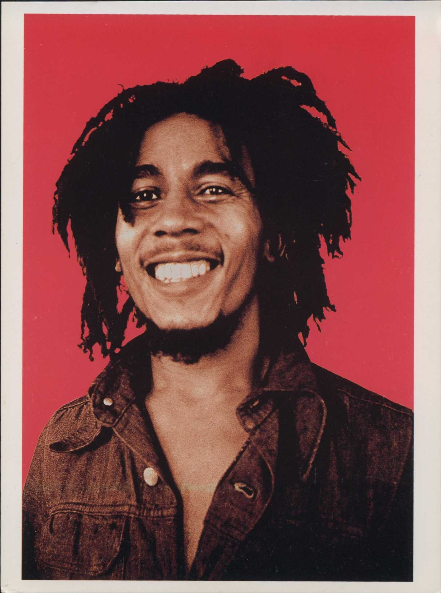 Reggae & Ska Music Memorabilia BOB MARLEY ~ RED PORTRAIT POSTER Music
