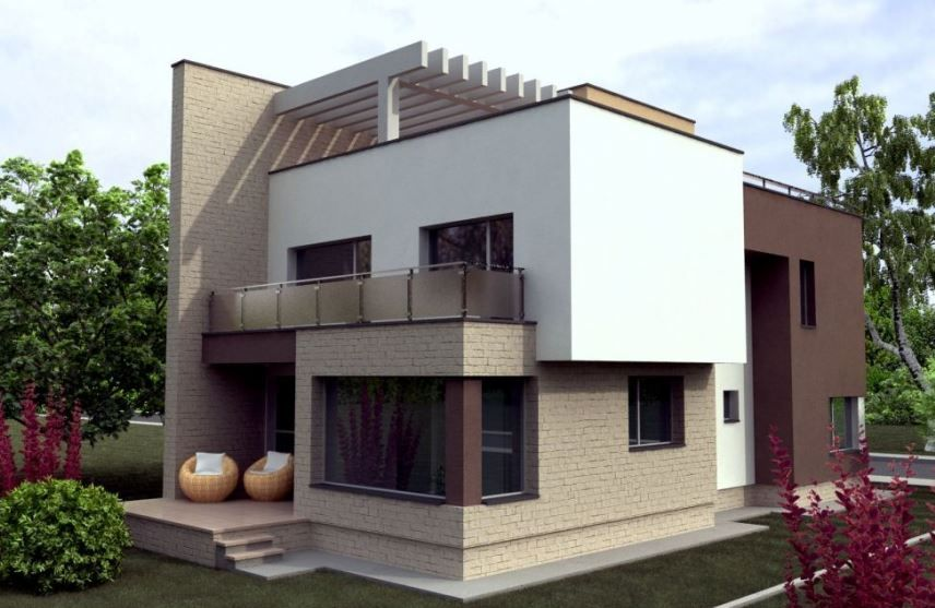Modelos De Casas De Dos Pisos Por Dentro Y Por Fuera Casas De Dos Pisos Modelos De Casas Bonitas Fachada De Casas Bonitas
