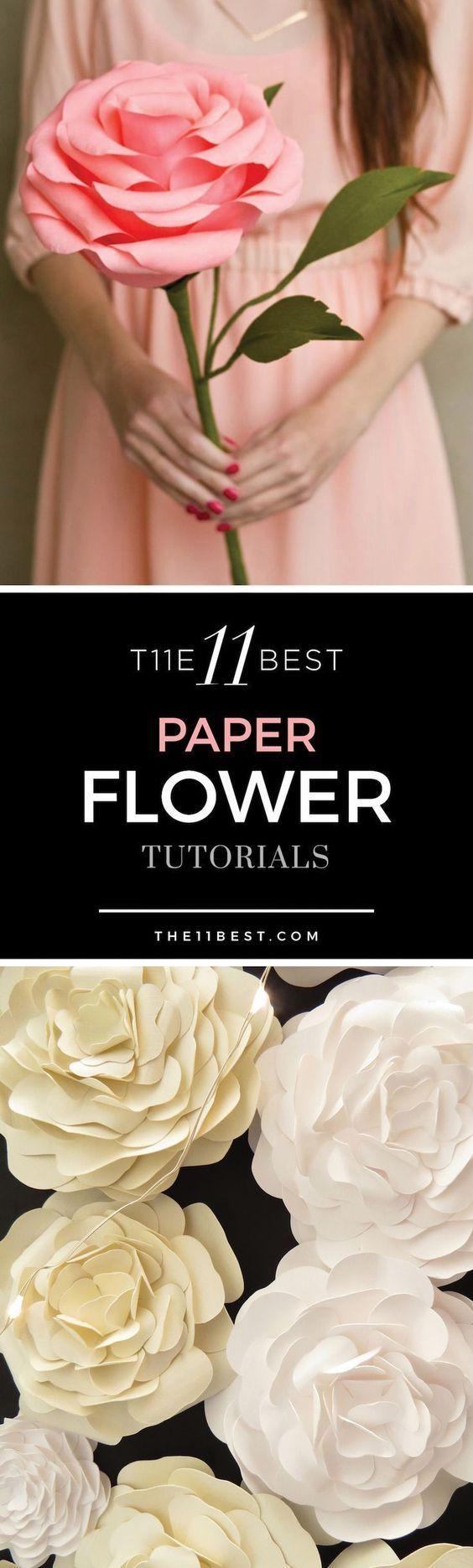 The 11 Best Paper Flower Making Tutorials Paper Flowers Mania