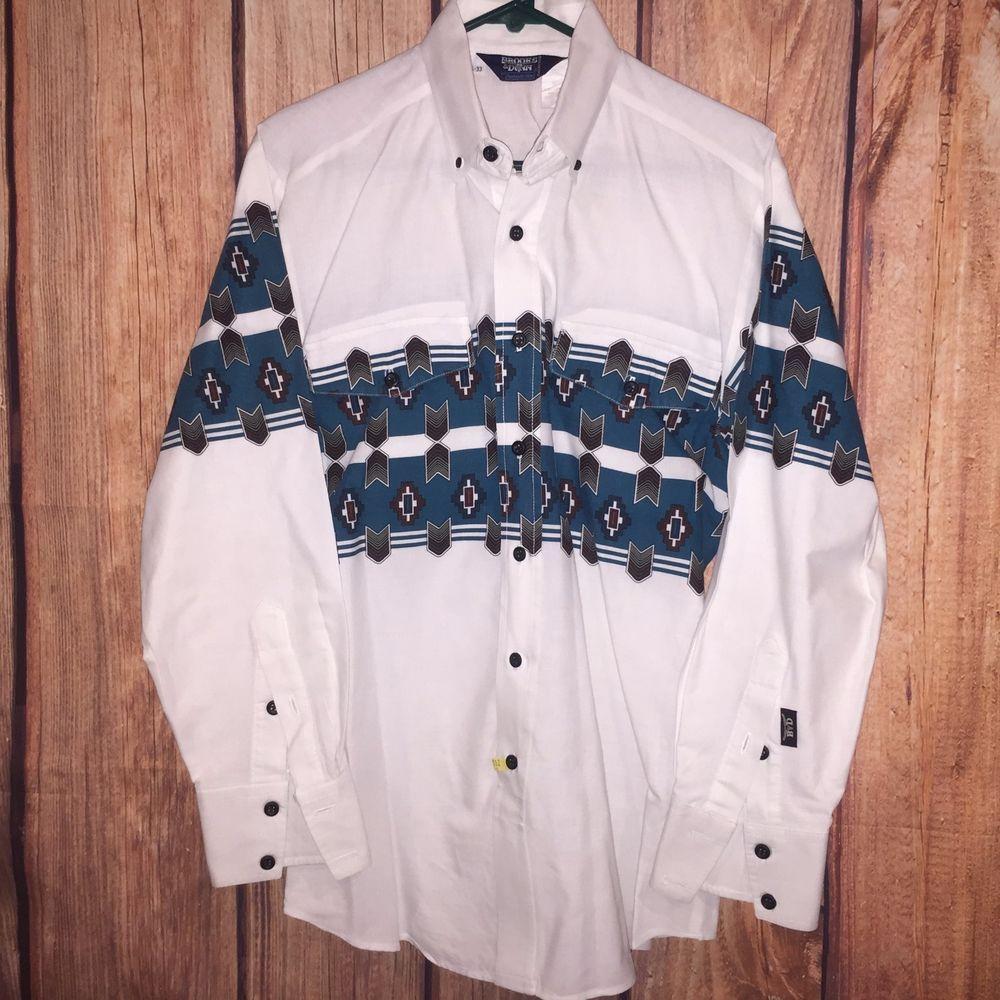 MEN VTG PANHANDLE SLIM BROOKS & DUNN AZTEC TRIBAL WESTERN L/S SHIRT 15.5 33 M | Clothing, Shoes & Accessories, Men's Clothing, Casual Shirts | eBay!