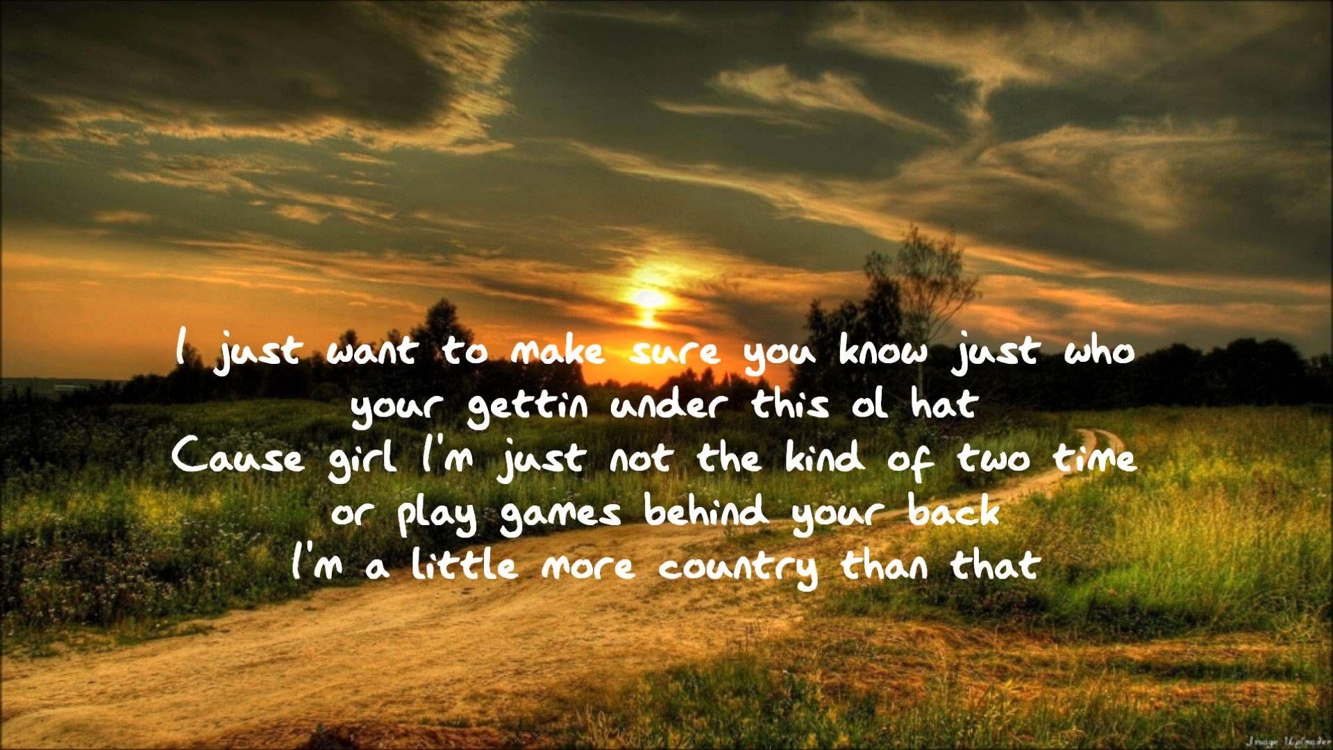 Easton Corbin - A Little More Country Than That Lyrics
