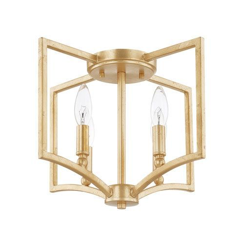 Capital lighting fixture company 219441cg regan capital gold four light flush mount