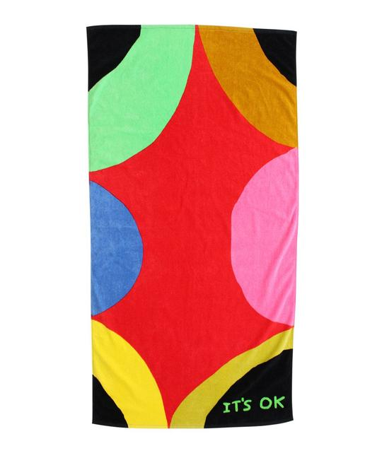 It/'s Ok Beach Towel Third Drawer Down X David Shrigley