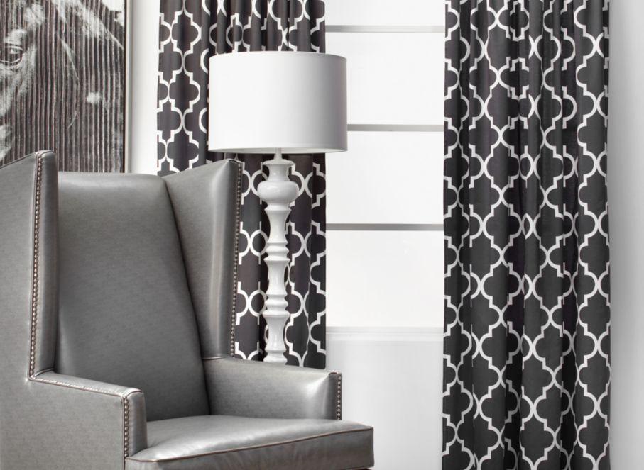 Moroccan Quatrefoil Lattice Pattern Curtains Textile Heaven Pinterest Grey Curtains
