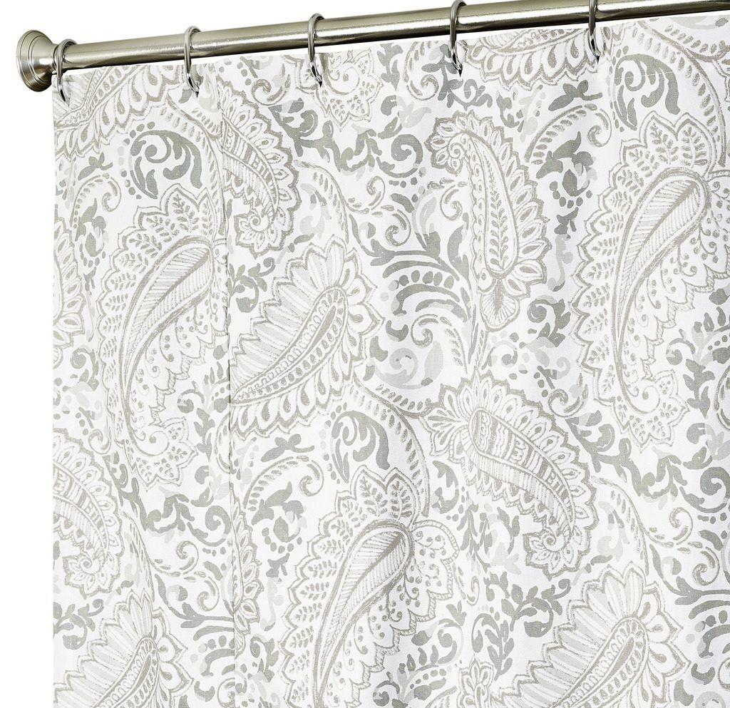 Etonnant Red Paisley Print Shower Curtain