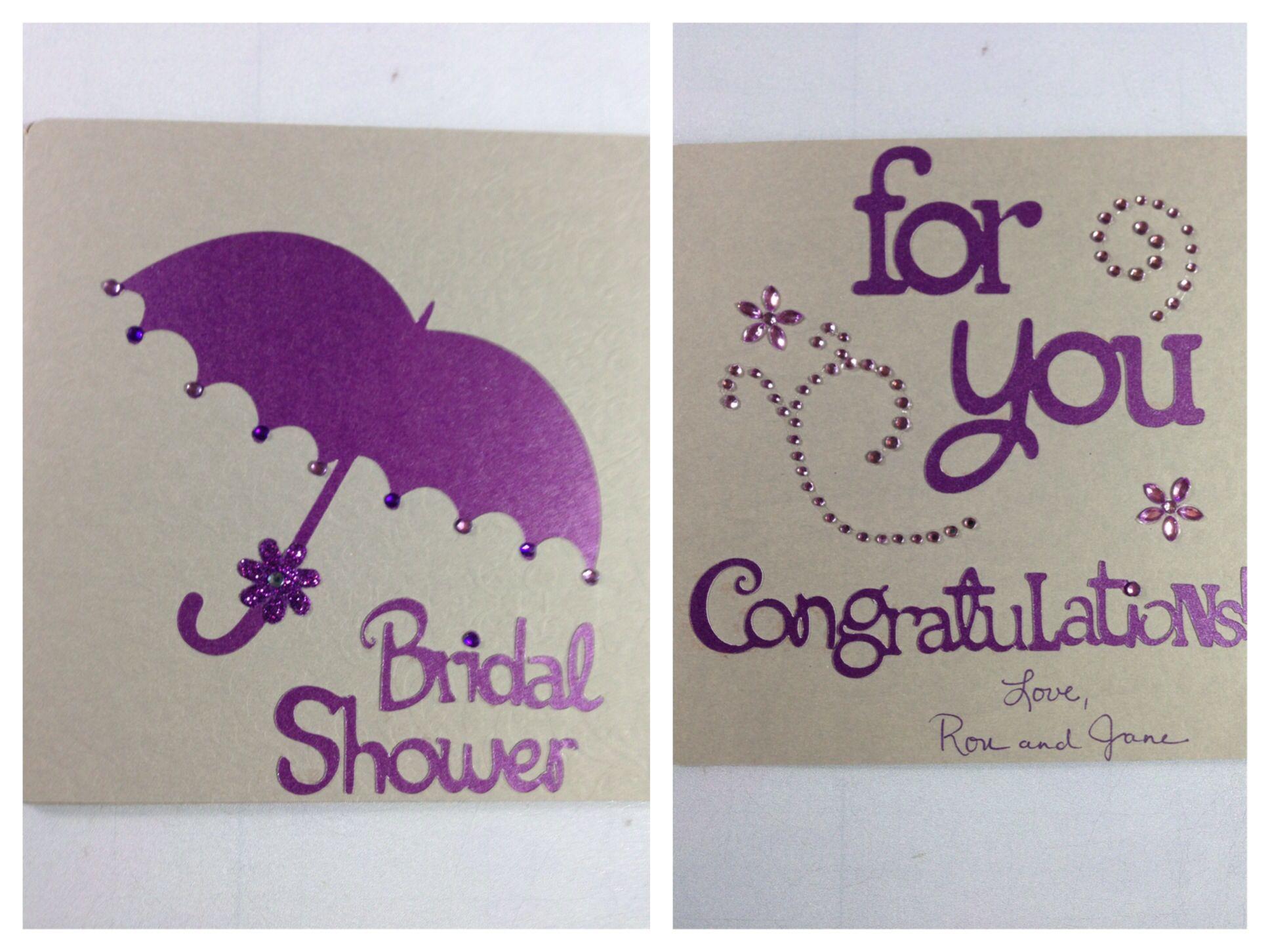Cricut Bridal Shower Card Bridal shower cards, Wedding