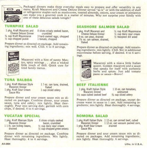 Kraft Dinner Summer Meal Ideas Recipe Sheet