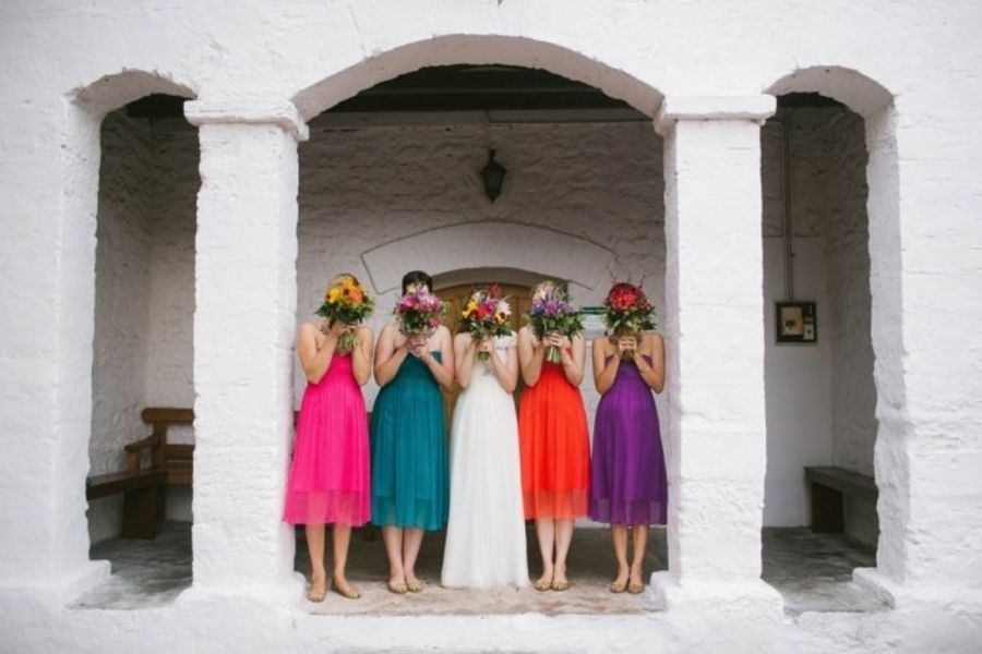 A Bright Rainbow Wedding Theme Full Of Colour Weddings Creative