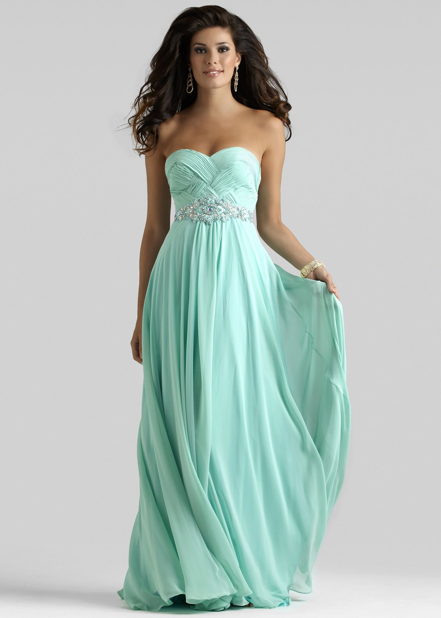 Clarisse 2108 Mint Long Ruched Prom Dresses 2014 | Ball gowns ...
