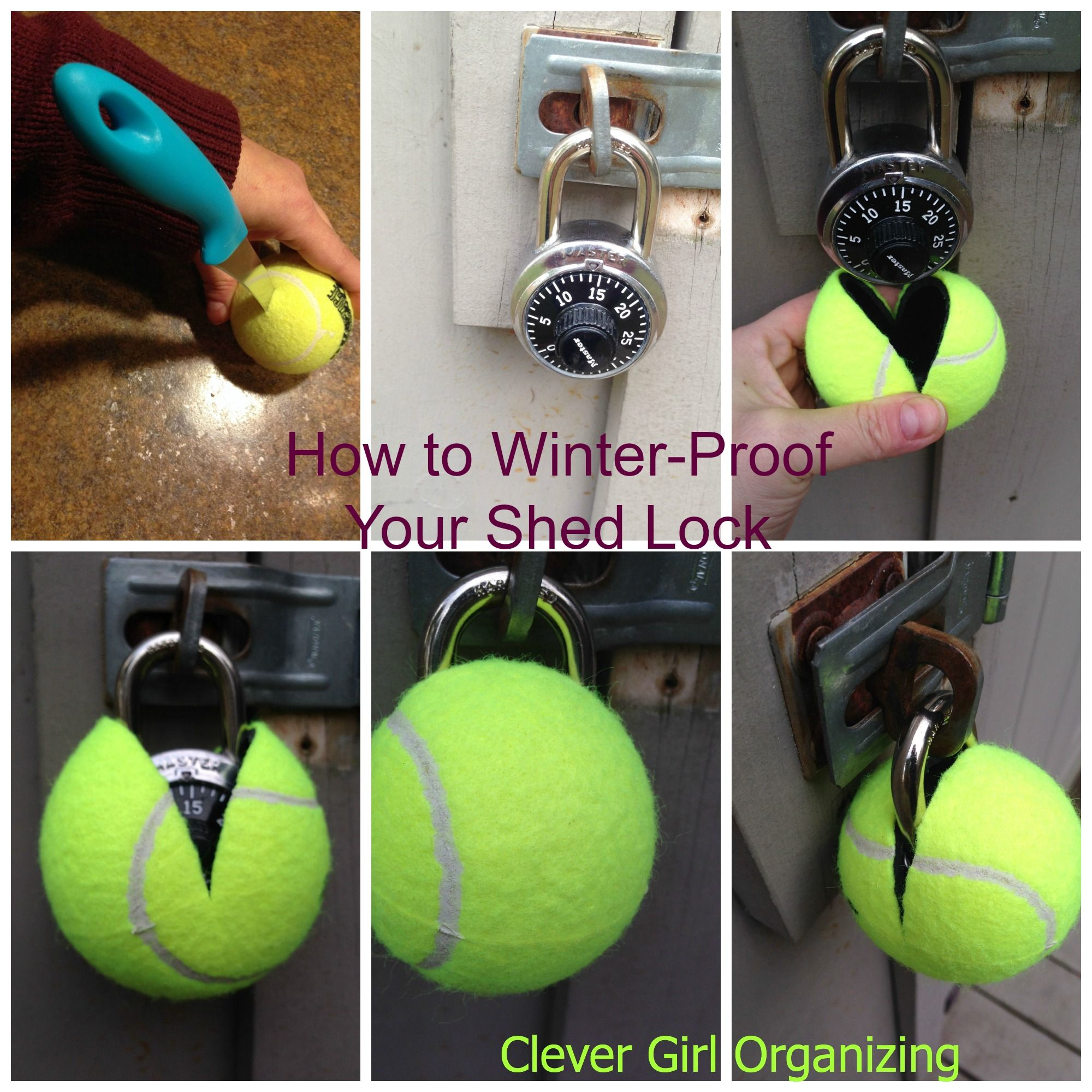 winter proof your shed lock organizing ideas pinterest