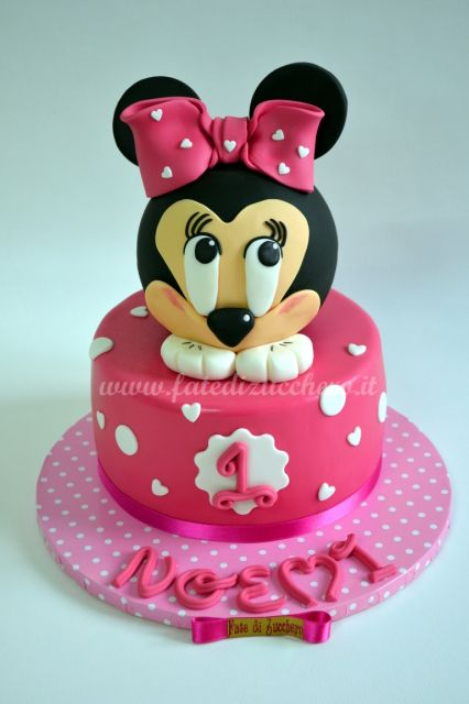 Torta Minnie Per Il Primo Compleanno Fate Di Zucchero Cake