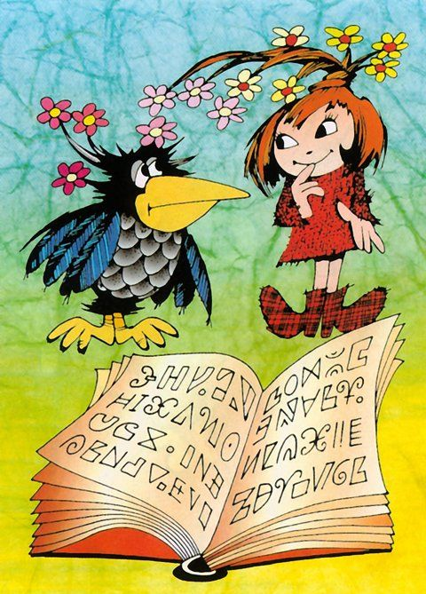 Little witch and her raven Abraxas from Zdeněk Smetana