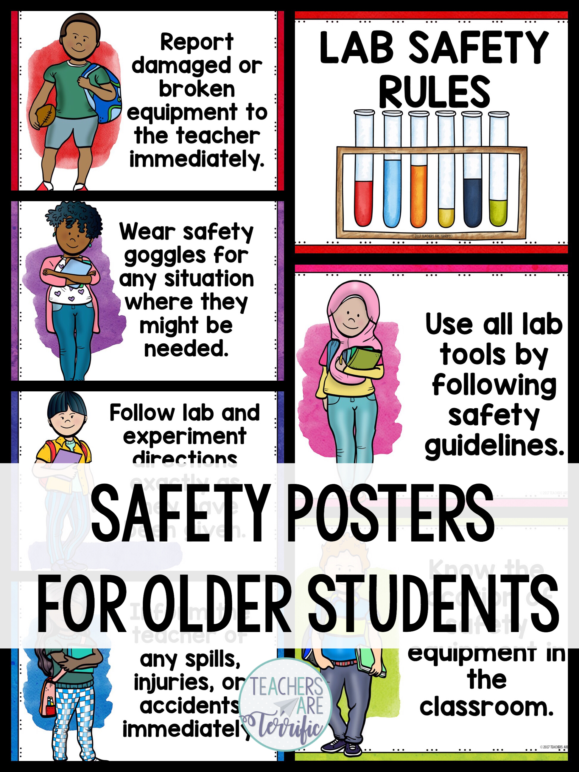 Science Safety Rules Posters For Older Students