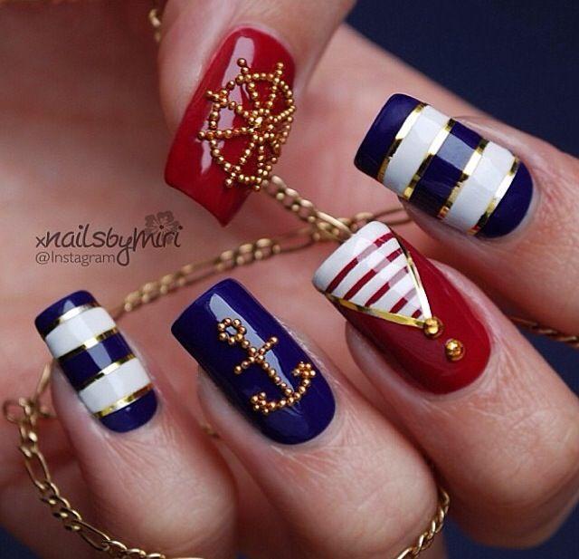 Cute anchor sea theme. Anchor Nail DesignsAnchor ... - Cute Anchor Sea Theme Nails Pinterest