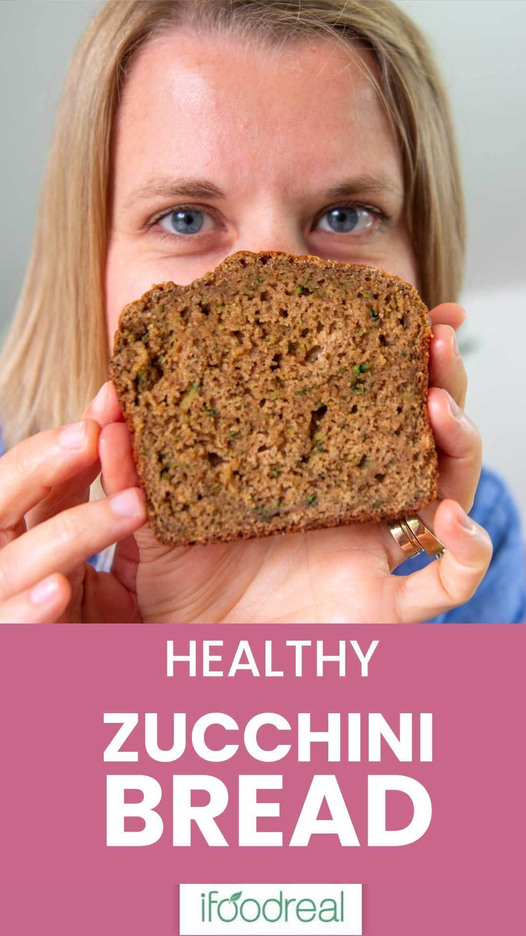 Healthy Zucchini Bread Recipe With Applesauce Whole Wheat Or Spelt Flour And Honey Super Delicious Ea With Images Zucchini Bread Healthy Healthy Zucchini Healthy Baking