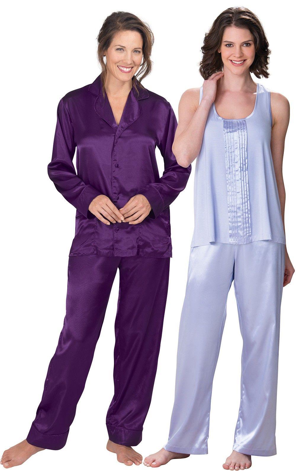 477b0b9f90 Life s Luxuries   Plum Satin Pajamas