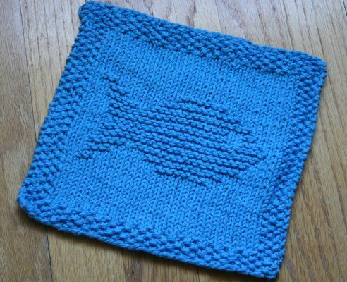 Fish Knit Dishcloth Pattern Tejer Knit Crochet Pinterest