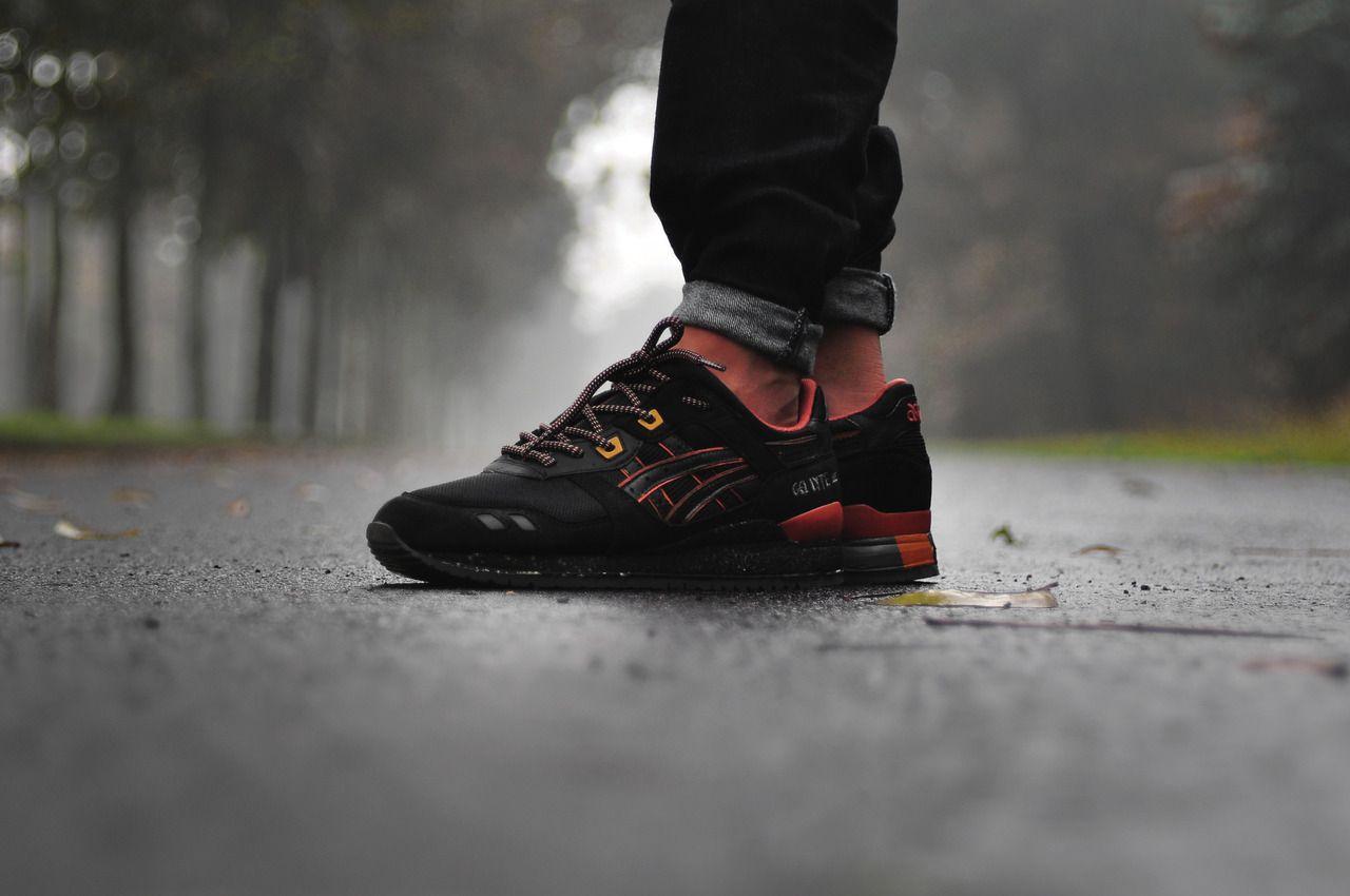 Asics Gel Lyte III - Black/Tan Custom. Incredible! #sneakers