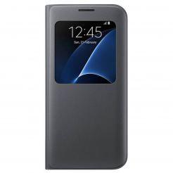 Samsung S-View Cover EF-CG935PBEGWW - оригинален кожен калъф за Samsung  Galaxy S7 Edge (черен) - Sim.bg b7893e6a8b88