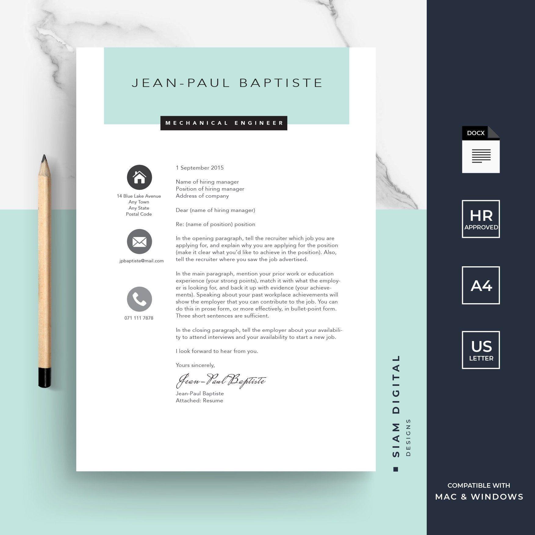 Résumé 4 pack  Stylish design  Professional layout  For MS | Etsy