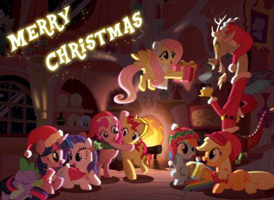 Mlp Christmas.Merry Christmas My Little Pony Friendship Is Magic