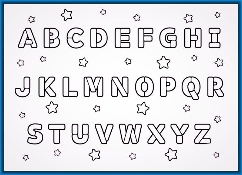 Resultado de imagen de abecedarios para colorear | letras ...