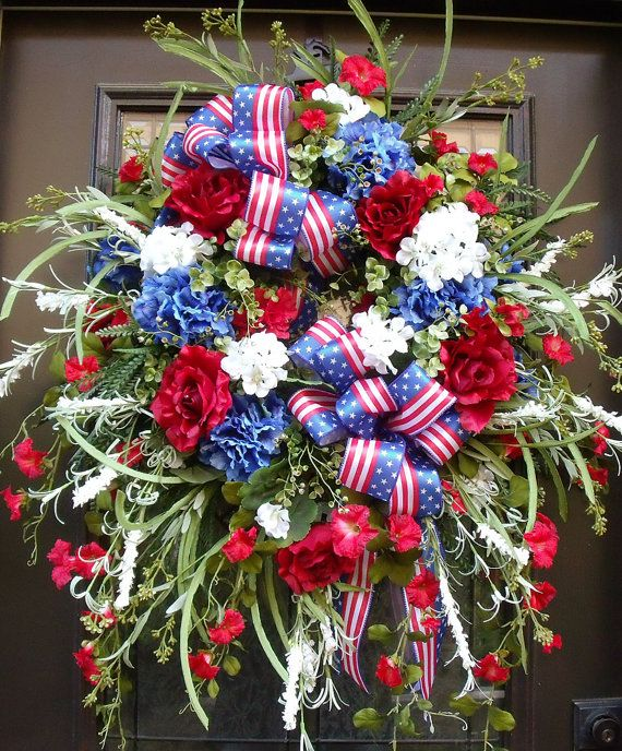 xxl memorial day wreath patriotic wreath 4th of july wreath red white and blue 4th of july. Black Bedroom Furniture Sets. Home Design Ideas