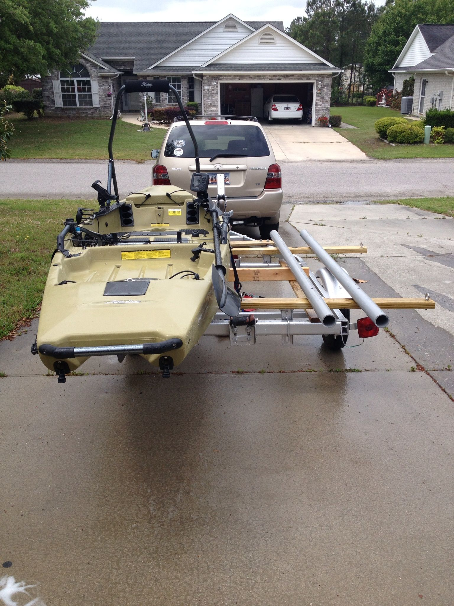 tandem kayak trailer conversion kayak fishing