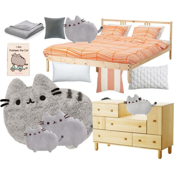 Pusheen The Cat By Shibuyagal On Polyvore Featuring Interior Interiors Interior Design Home Home Decor Interior Decorating Crate An Home Decor Decor Home