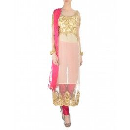 Ivory Zari Embroidered Suit