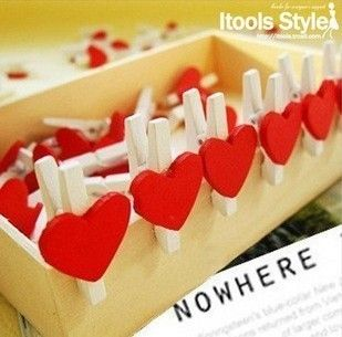 DIY-Memo-decoration-bookmark-postcard-binder-paper-clip-wooden-photo-pegs-pin-clothes-craft-clips-paperclip.jpg (309×305)