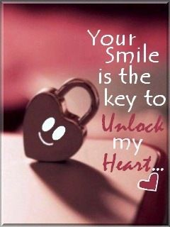 Keep smile to unlock my heart Heart touching love quotes