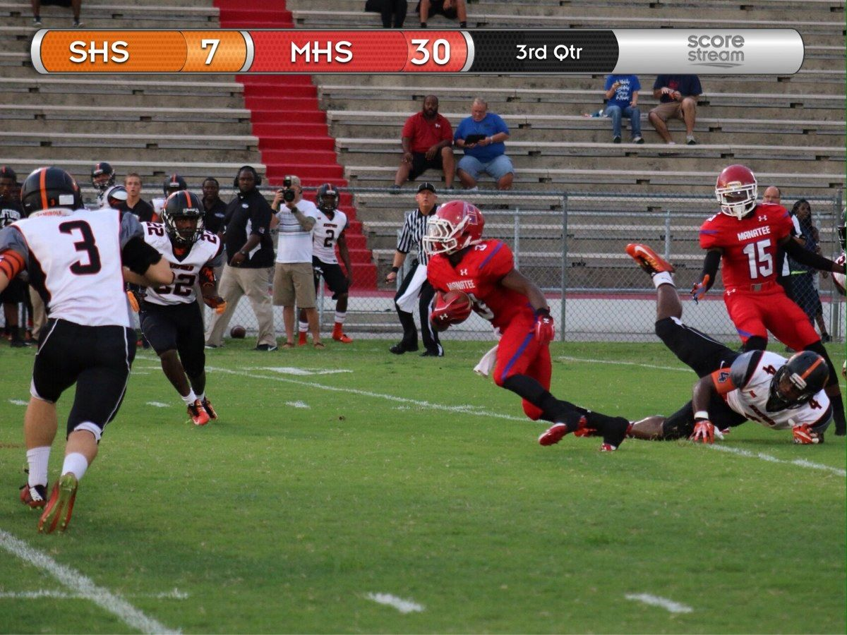 Manatee fans always use ScoreStream to upload pictures
