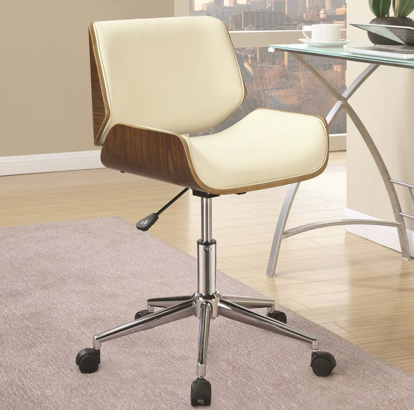 Swivel Office Chair, White Office Chair