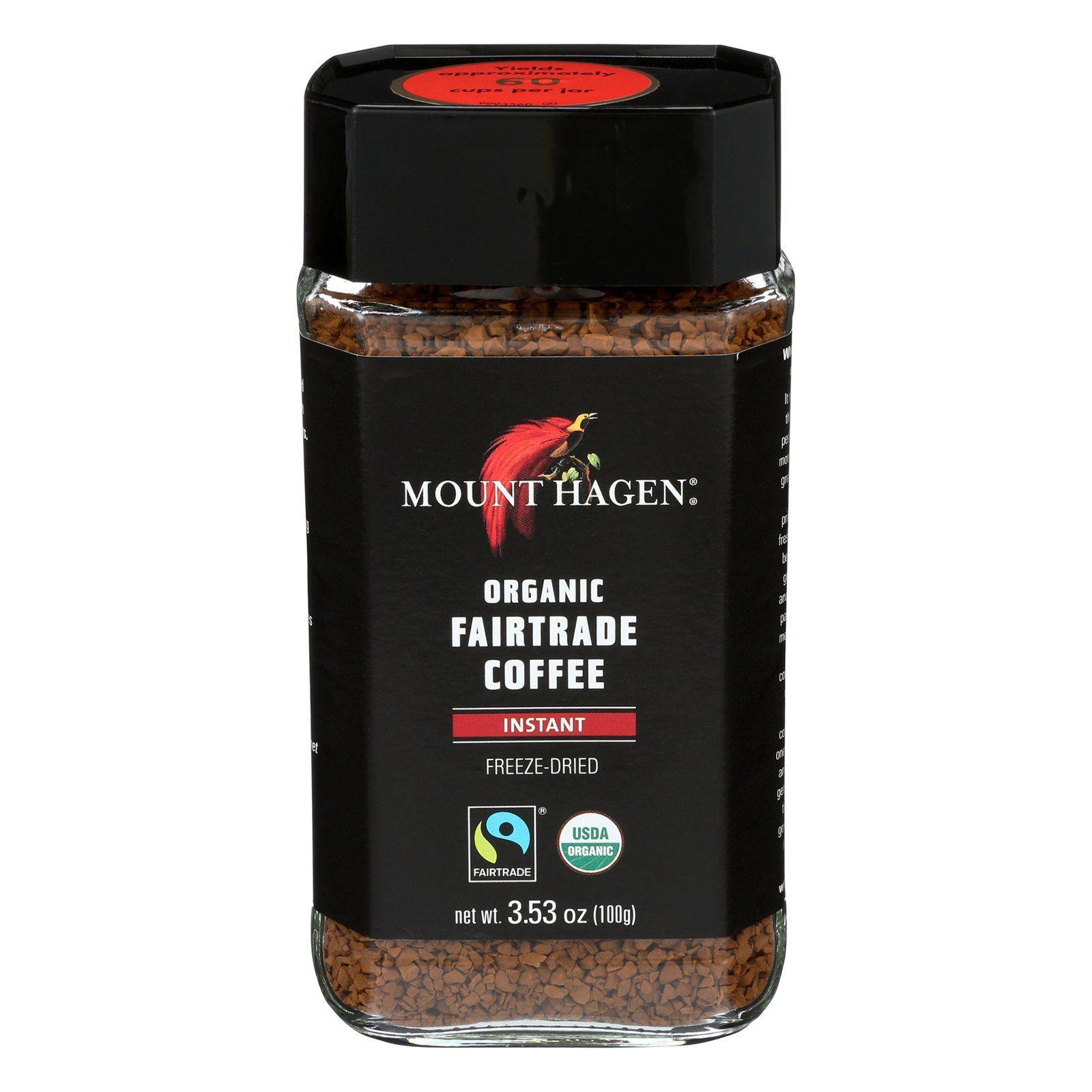 Mount Hagen Organic Instant Coffee Coffee Case of 6